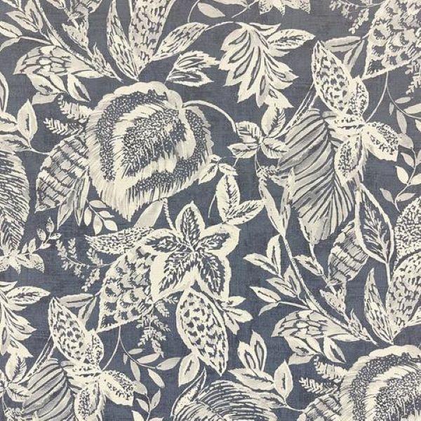 Mae Floral Sketch Wallpaper Navy