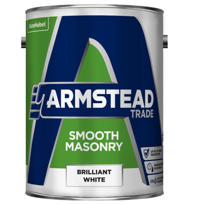Armstead Trade Smooth Masonry Paint - Brilliant White