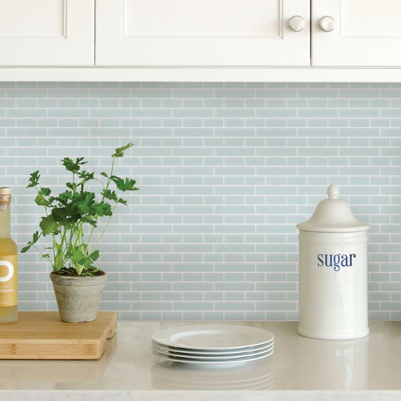 Seaglass Peel & Stick Backsplash Adhesive Wall Tile