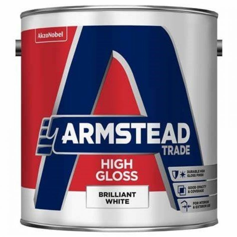 Armstead Trade Quick Dry Gloss Paint - Brilliant White
