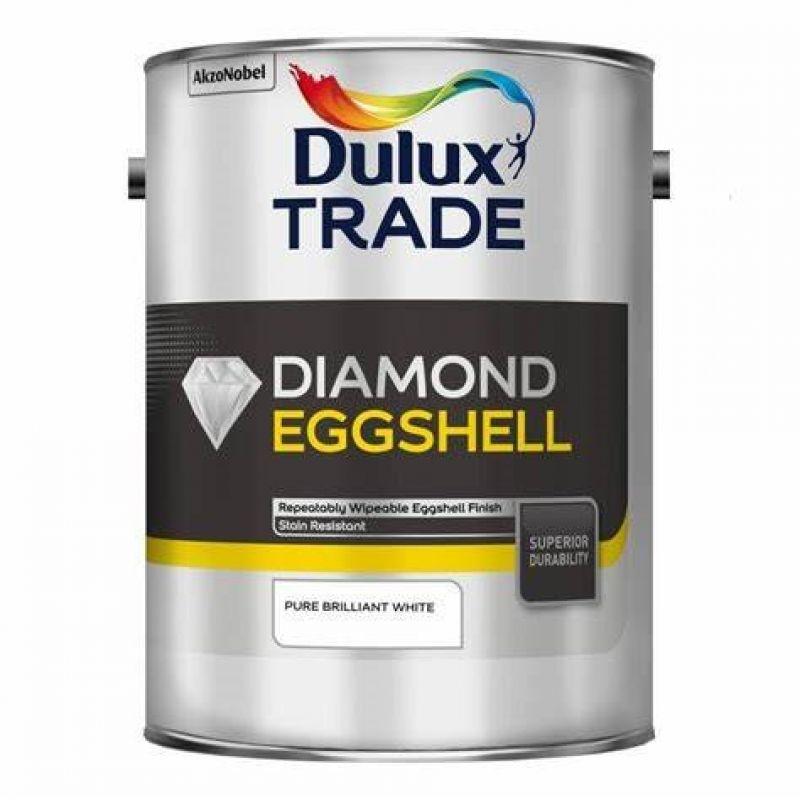 Dulux Trade Diamond Eggshell Paint - Pure Brilliant White