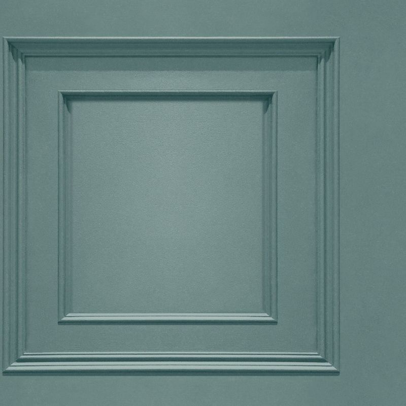 Oliana Wood Panel Effect Wallpaper Soft Teal