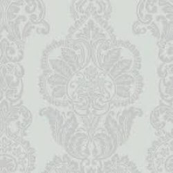 Rochester Luxury Damask Wallpaper Duck Egg