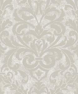 Collingwood Metallic Damask Wallpaper Cream