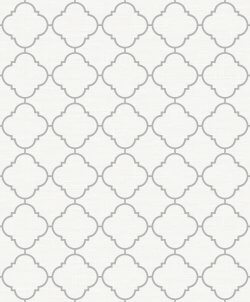 Trellis Metallic Wallpaper White/Silver