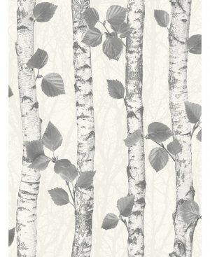 Fine Decor Sparkle Birch Wood Wallpaper