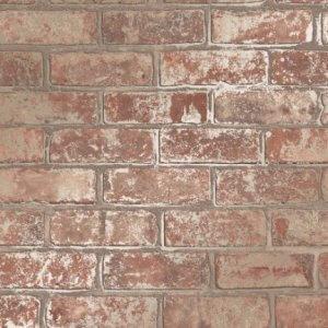 Loft Style Metallic 3D Brick Effect Wallpaper