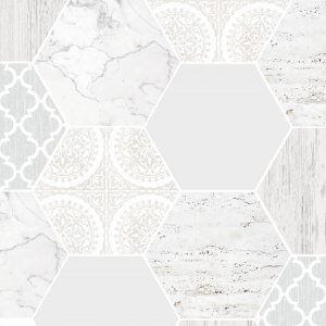 Marble Hexagonal Tile Wallpaper