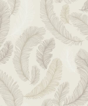 Yasmine Feather Glitter Wallpaper