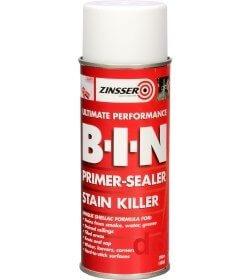 Zinsser's B-I-N Primer-Sealer & Stain Killer Aerosol 400mls