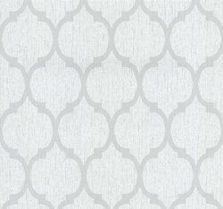 Casual Chic Art Deco Oriental Wallpaper Grey