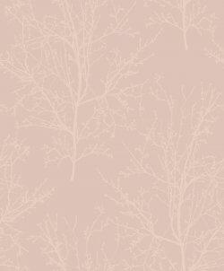 Arbour Tree Metallic & Glass Bead Wallpaper Dusky Pink