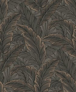 Botanical Leaf Metallic Wallpaper