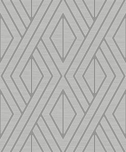 Metallic Geo Diamond Wallpaper Grey
