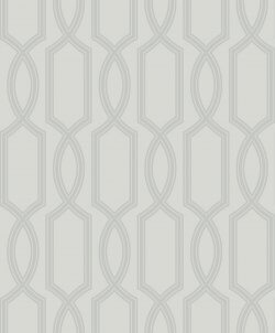 Trellis Metallic & Glass Bead Wallpaper