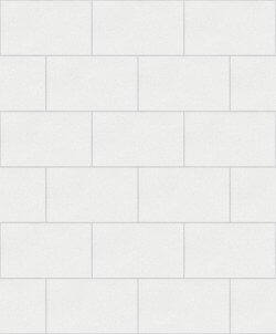 London Tile Glitter Wallpaper White