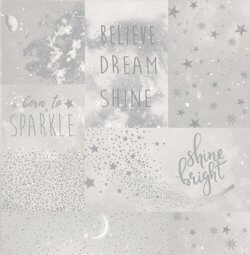 Love to Shine Collage Star Wallpaper Silver