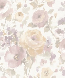 Artemissa Watercolour Flower Wallpaper Blush Pink