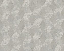 Titanium Diamond Geo Effect Silver Wallpaper