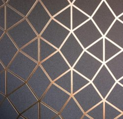 Platinum Geometric Metallic Wallpaper Rose Gold