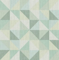 Puzzle Geometric Triangle Wallpaper Green