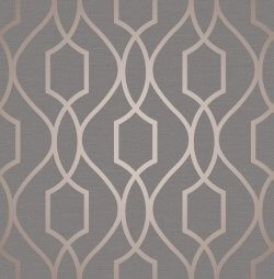 Apex Trellis Metallic Wallpaper
