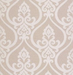 Fleur De Lis Embossed Damask Wallpaper