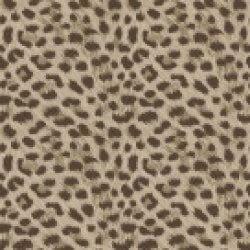 Leopard Animal Print Metallic Wallpaper Taupe