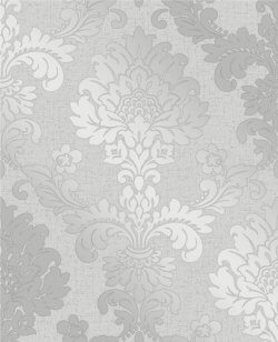 Quartz Damask Wallpaper Silver