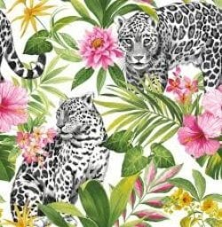 Tropica Leopard Multi Wallpaper