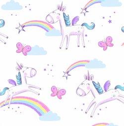 Unicorn Children's Wallpaper