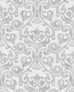 Wentworth Glitter Damask Wallpaper
