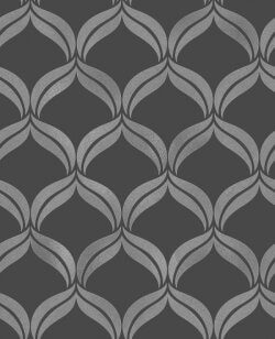 Wentworth Leaf Swirl Wallpaper Black