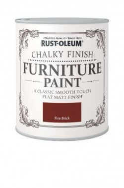 Rust-Oleum Chalky Finish Furniture Paint Fire Brick