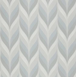 Geometric Feather Wallpaper Teal