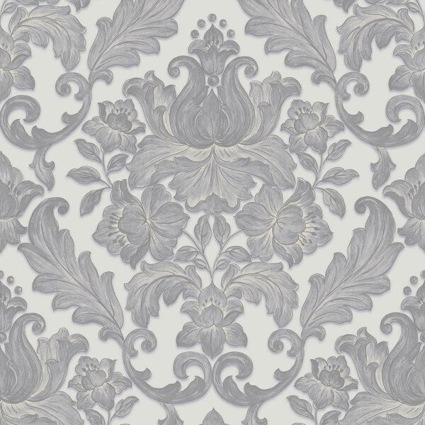 Luxury Metallic Damask Wallpaper Muriva Wallpaper Decorating