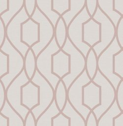 Apex Trellis Metallic Wallpaper Rose Gold