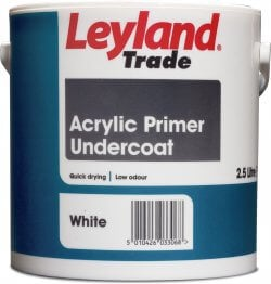 Leyland Trade Acrylic Primer Undercoat Brilliant White 750ml