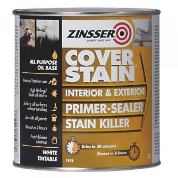 Calculating Paint Coverage Interior: Cover Stain Interior & Exterior Primer-Sealer Stain Killer