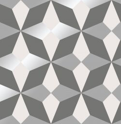 Nova Geometric Metallic Star Wallpaper Grey
