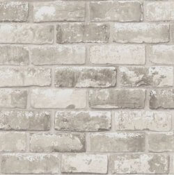 Brick Effect Wallpaper Taupe
