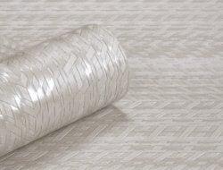 Modena Metallic Weave Wallpaper Silver