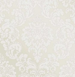 Monaco Glitter Damask Wallpaper Cream