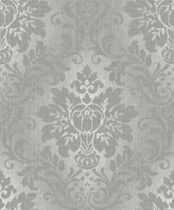 Fabric Damask Glitter Wallpaper Grey