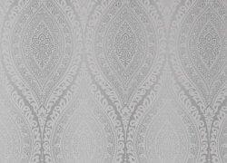 Kismet Moroccan Damask Wallpaper Silver