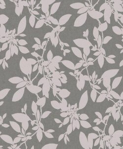 Linden Floral Sparkle Wallpaper Charcoal & Blush