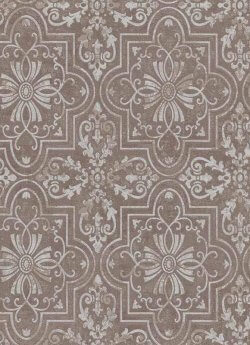 Vintage Tile Wallpaper Pale Chocolate