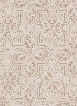 Vintage Tile Wallpaper Cream