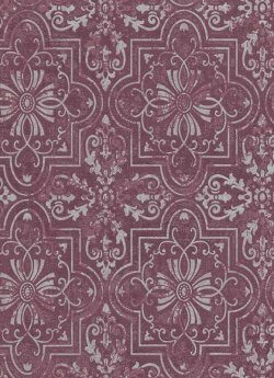 Vintage Tile Wallpaper Purple