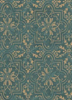 Vintage Tile Wallpaper Pale Teal